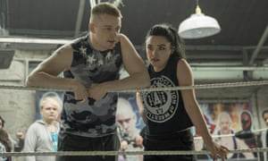 Knockabout tale … Jack Lowden and Florence Pugh in Fighting with My Family.