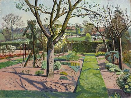 A Sussex Garden by Evelyn Dunbar