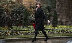 nicky morgan walking to cabinet
