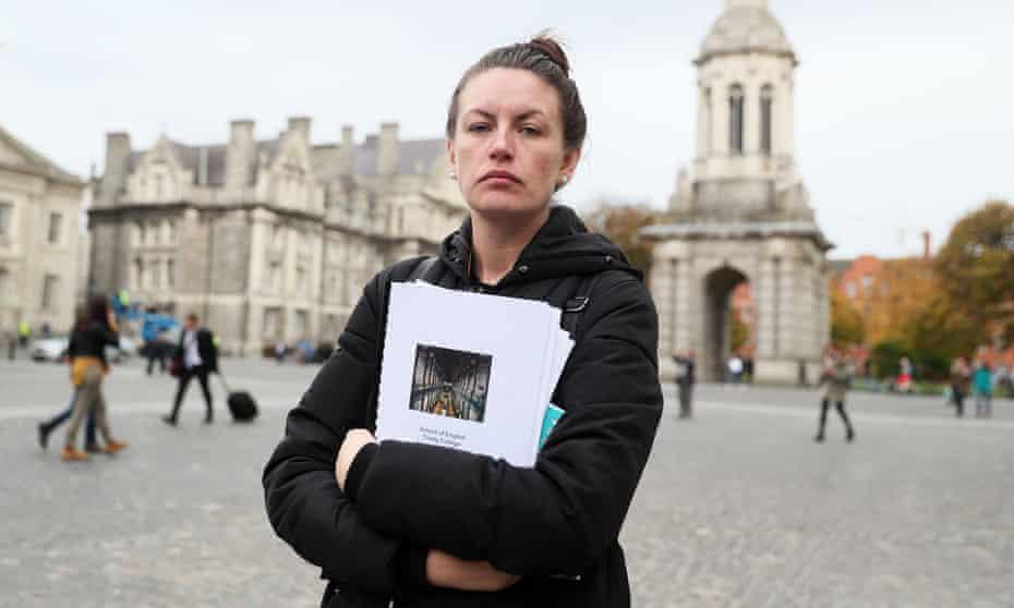 Erica Fleming outside Trinity College Dublin.