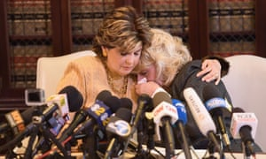 Gloria Allred and her client Heather Kerr speak during a press conference regarding the sexual assault allegations that have been brought against Harvey Weinstein.