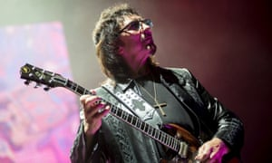 Tony Iommi in concert with Black Sabbath in Budapest.