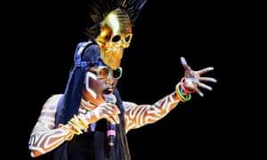 Radical … Grace Jones on stage.