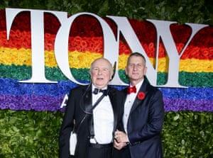 McNally and his husband Tom Kirdahy at the Tony awards, June 2019.
