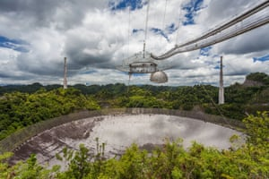 Arecibo telescope in Puerto Rico