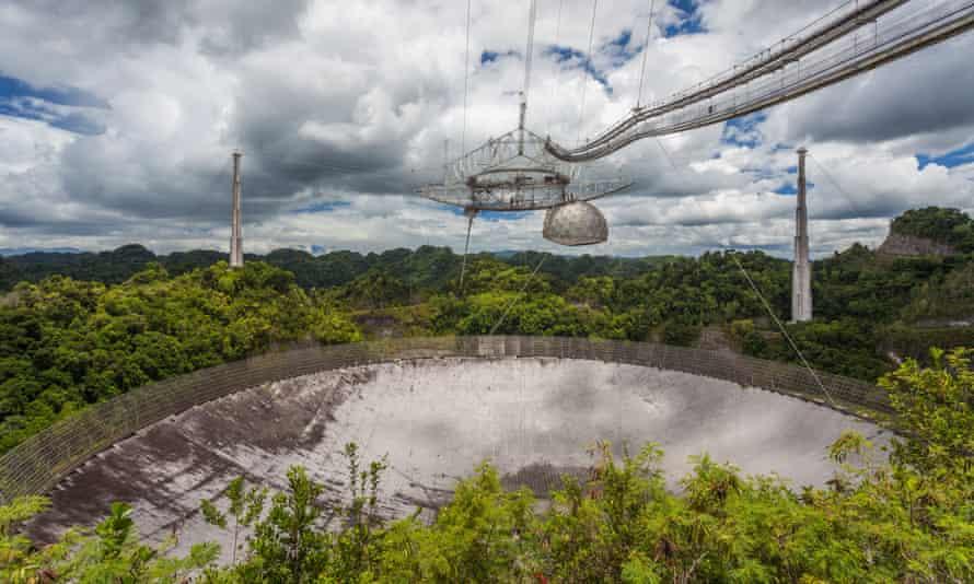 'Facing the axe': the Arecibo Observatory in Puerto Rico.