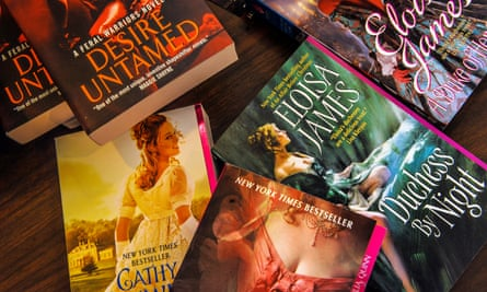 A romance book conference at the Center for the Book at Library of Congress, in Washington, DC.WASHINGTON, DC - FEBRUARY 11: A collection of books on a vendor's table during the romance book conference at the Center for the Book at Library of Congress, on February, 11, 2015 in Washington, DC. (Photo by Bill O'Leary/The Washington Post via Getty Images)