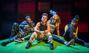 Jammz, Debris Stevenson, Cassie Clare and Kirubel Belay in Poet in da Corner.