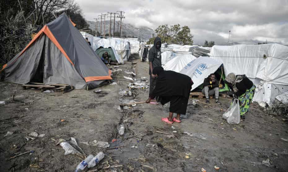 The Vial refugee camp on Chios, in December 2019