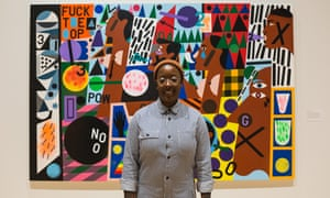 Nina Chanel Abney: 'Playful even though the topics are not.'