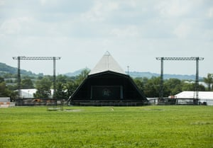 The Pyramid stage one week before the gates open.
