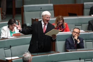 Bob Katter during question time.