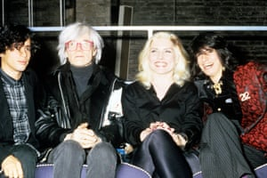 Harry with Andy Warhol in 1985.