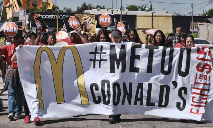 McDonald's workers staged protests in several cities last week as part of what organizers billed as the first multistate strike seeking to combat sexual harassment in the workplace.