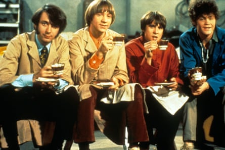 The Monkees: Michael Nesmith, Peter Tork, Davy Jones, and Micky Dolenz.