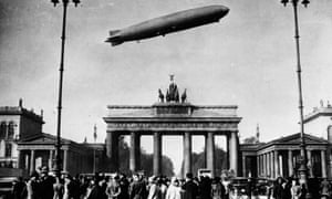Zeppelin over Berlin circa 1920.