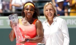 Martina Navratilova, seen here alongside Serena Williams