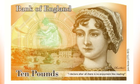 Jane Austen on the new £10 note