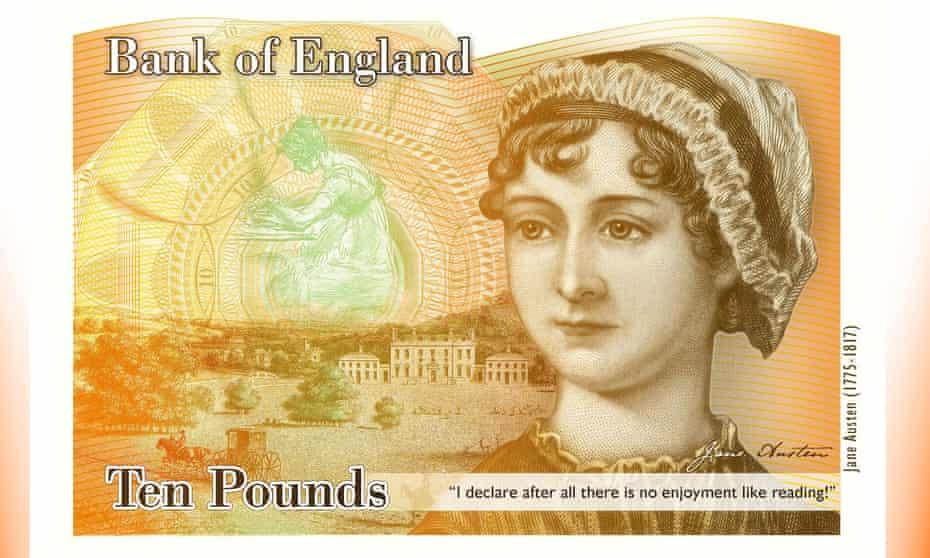 Jane Austen on the new £10 note