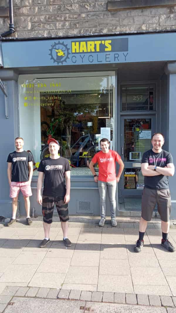 The staff at Hart's Cyclery in Edinburgh