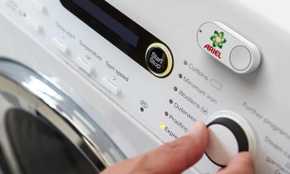 Ariel Dash button stuck to a washing mashine
