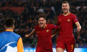 Dzeko celebrates after scoring the opener.