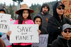 Climate and Indigenous rights supporters in Victoria. Experts say the participation of non-Indigenous people is critical to the Wet'suwet'en movement.