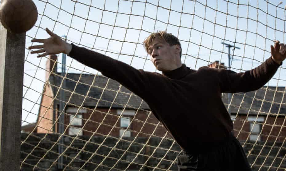David Kross as Trautmann in The Keeper.