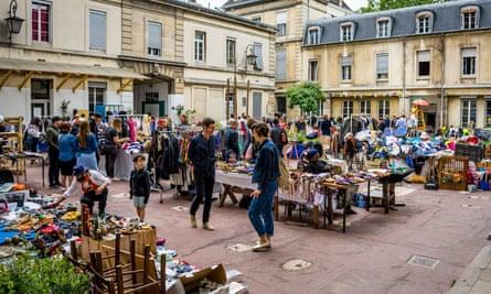 A market at Les Grands Voisins in Paris, formerly the Saint-Vincent-de-Paul hospital.