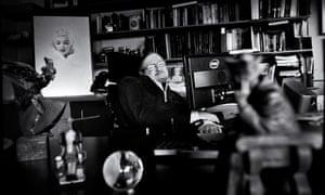 Professor Stephen Hawking in his office