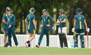 Australia training