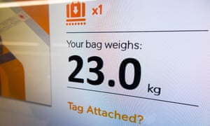 The key number: my bag weighed exactly 23 kg but I was still charged.