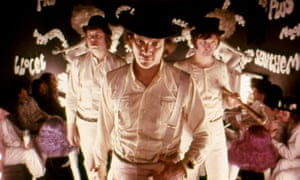 … Malcolm McDowell (centre) in A Clockwork Orange.