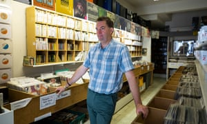 Simon Malpas, the owner of Oldies Unlimited rare records store.