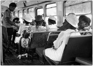Sunday morning on a bus in Kingston, Jamaica, circa 1975.