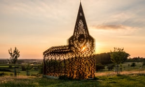 Now you see it … the striking church art installation near Borgloon, Belgium