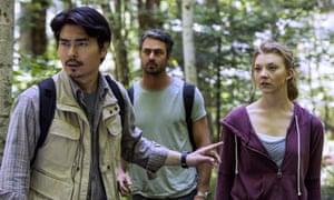 Yukioshi Ozawa, Taylor Kinney and Natalie Dormer in The Forest.