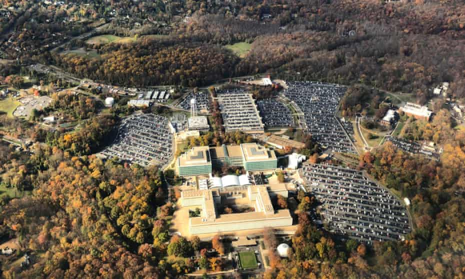 The George Bush Center for Intelligence, the headquarters of the CIA, is seen in Langley, Virginia.