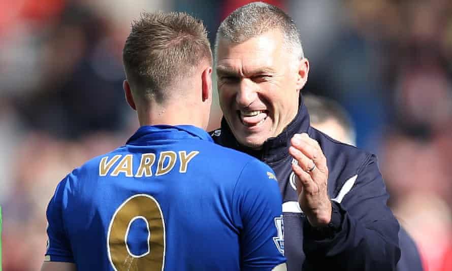Jamie Vardy and Nigel Pearson