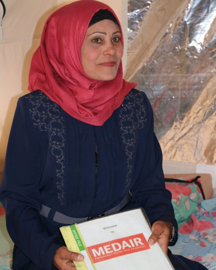Safia and her family escaped from Hawija and are now living in a refugee camp near Kirkuk. As a Medair community health volunteer, Safia visits women in their tents to share messages about health, hygiene, nutrition and family planning.