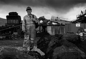 Darren Morgan (54) who works at the barrel wash at Tower Regeneration opencast coal mine