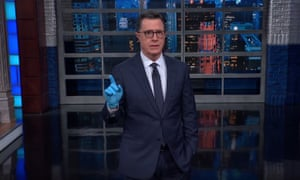 """Stephen Colbert on coronavirus in the US: """"This is the greatest crisis of Trump's presidency, and his first response is: 'Mike, you're up. You take it.'"""""""