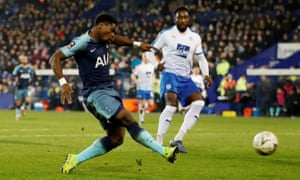 Serge Aurier fires in the third.