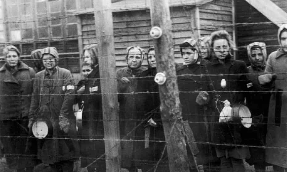 Women in Ravensbruck waiting for liberation by the Russian army in March 1945.