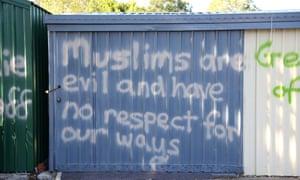 The Rocklea Muslim prayer centre was vandalised last September.