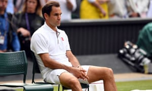 Roger Federer is distraught after losing in five sets.