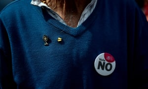 A 'vote no' campaigner
