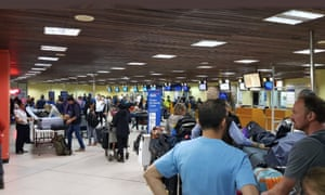 British nationals in queue to get last flight out of Kenya