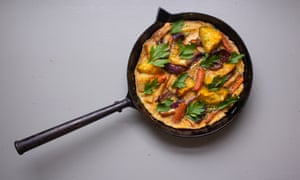 Leftover roast veg frittata is an excellent Boxing Day breakfast.