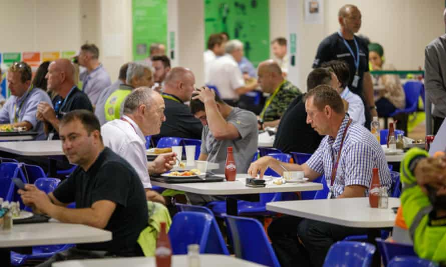A canteen for construction workers at Hinkley Point.
